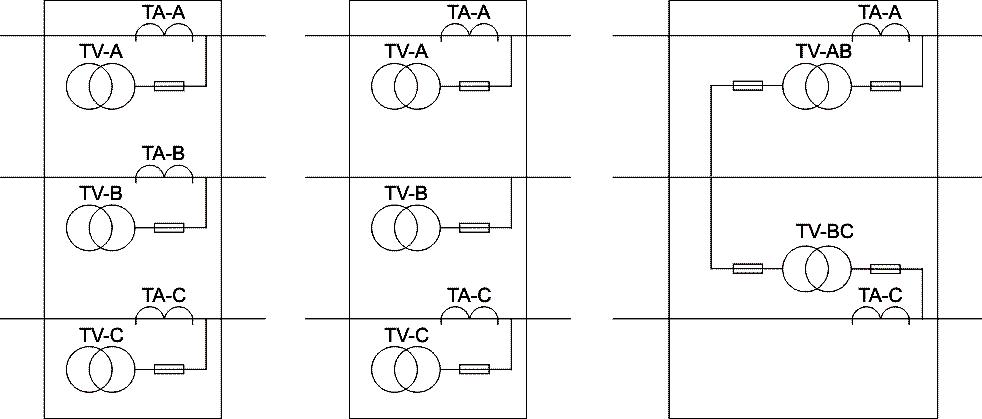 а) схема 3ТТ+3ТН б) схема